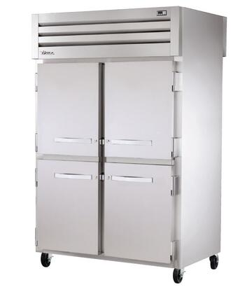 True STA2RPT-4HS Spec Series Two-Section Pass-Thru Refrigerator with 56 Cu. Ft. Capacity, 134A Refrigerant, LED Lighting and Swing-Doors