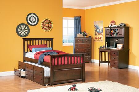 Atlantic Furniture MAT3TAWTW  Twin Size Trundle Bed