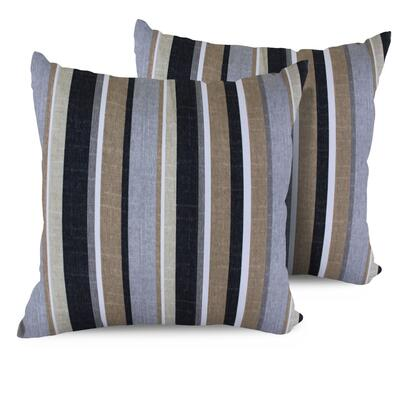 PILLOW GREYSTRIPE 18x18 2x