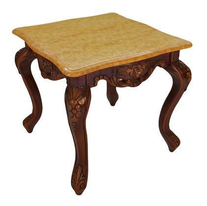 J. Horn CF99CMT Transitional Style End Table: Camel Top