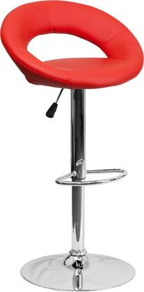 Flash Furniture DS811REDGG Residential Vinyl Upholstered Bar Stool