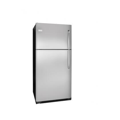 Frigidaire FFTR2126LK Freestanding Top Freezer Refrigerator with 20.6 cu. ft. Total Capacity 2 Glass Shelves 5.26 cu. ft. Freezer Capacity