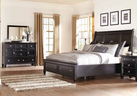 Milo Italia BR764QSBDM Martinez Queen Bedroom Sets