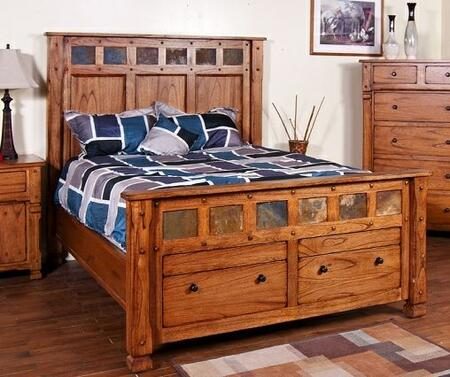 Sunny Designs 2322ROBEDS Sedona Beds in Rustic Oak, Various Sizes