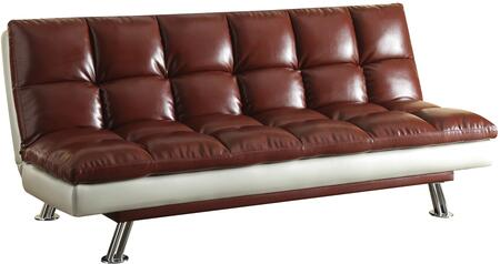 Acme Furniture 57247 Baka Series Convertible Bycast Leather Sofa Bed ...