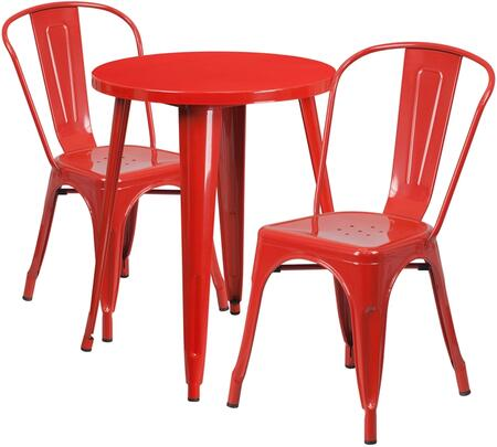 Flash Furniture CH51080TH218CAFEREDGG Round Shape Patio Sets