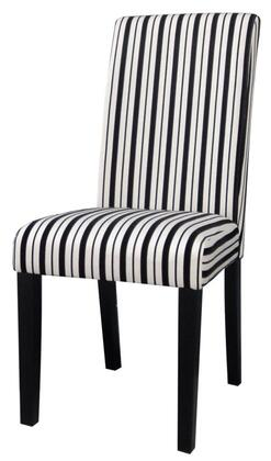 Chintaly MANDYPRSSC Mandy Series Modern Fabric Wood Frame Dining Room Chair