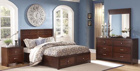 New Classic Home Furnishings 00060WSBDMN Kensington Californ