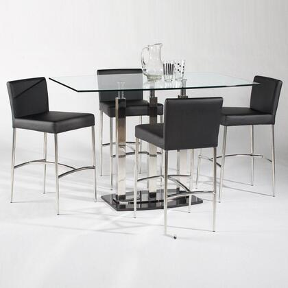 Chintaly CILLA5PIECERECTSET Cilla Bar Tables