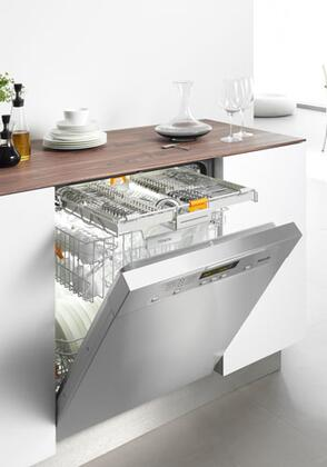 "Miele G5605SC 24"" Full Console Dishwasher with 6 Wash Programs, 3D Cutlery Tray, 46 dBA Operation,  Built In Water Softener, 16 Place Settings, 46 dBA Quiet Rating, Energy Star in Stainless Steel"