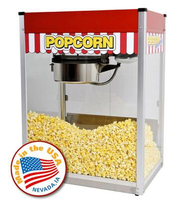 Paragon 11810 Classic Pop Popcorn Machine with Stainless Steel Foodzone & Tempered Glass Panels