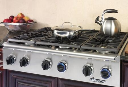 "Dacor EG486SCHNG 48"" Discovery Series Gas Sealed Burner Style Cooktop"