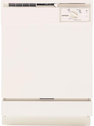 "Hotpoint HDA2100VCC 24"" 2100 Series Built In Full Console Dishwasher with 12 Place Settings Place Settingin Bisque"