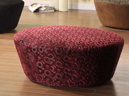 Armen Living LC6022OTPU Hostess Series Contemporary Fabric Ottoman