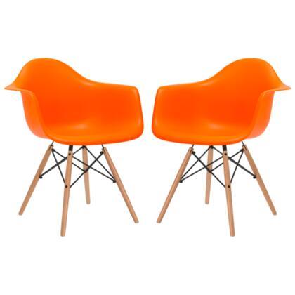 EdgeMod EM110NATORAX2 Vortex Series Modern Wood Frame Dining Room Chair