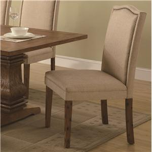 Coaster 103712 Parkins Series Transitional Fabric Wood Frame Dining Room Chair