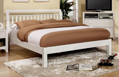 Furniture of America CM7923WHQBED Corry Series  Queen Size Sleigh Bed