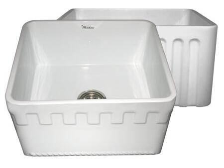 Whitehaus WHFLATN2018WH Kitchen Sink
