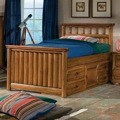 American Woodcrafters 740033CPB  Twin Size Captain Bed
