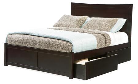 Atlantic Furniture MIAFPESQN Miami Series  Queen Size Bed