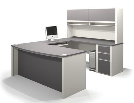 Bestar Furniture 93881 Connexion U-shaped workstation including assembled pedestal