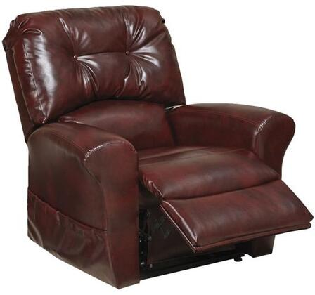 "Catnapper Landon Collection 4852 42"" Power Lift Recliner with Lay Flat Design, Tufted Back, Comfort Coil Seating, Soft and Durable Bonded Leather Fabric Upholstery"