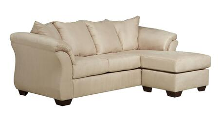 Signature Design by Ashley Darcy 7500X18 Sofa Chaise with Sweeping Padded Arms, Pillow Back Cushions and Tapered Block Feet in
