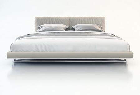 Modloft MD327CKGRY Broome Series  California King Size Platform Bed