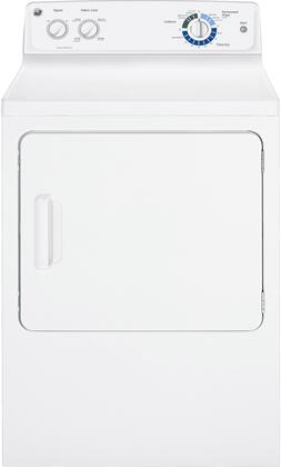 "GE GTDX180EDWW 27"" Electric  Electric Dryer with 6 cu. ft. Capacity  4 Temperature Settings 