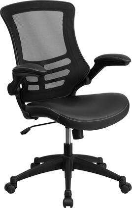 Flash Furniture BLX5MGG Mid-Back Black Mesh Chair with Nylon Base