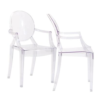 Modway EEI905CLR Casper Series  Plastic Frame Not Upholstered Patio Arm Chair