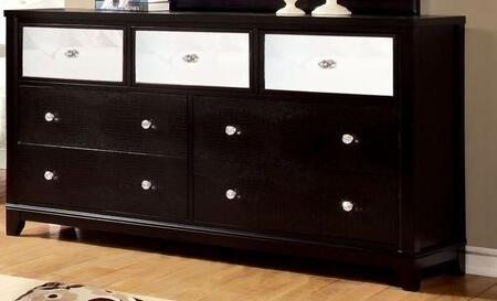 Furniture of America Bryant CM7288DX Dresser with Modern Style, Full Extension Drawers, Felt-Lined Top Drawer, Solid Wood, Wood Veneer and Others