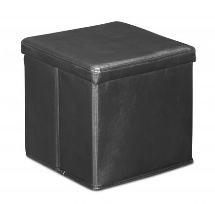 Zuo 103603 Skammel Series Contemporary Faux Leather Ottoman