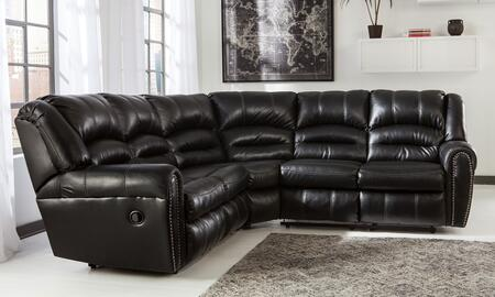 Milo Italia Darius MI-5875BTMP Sectional Sofa with Left and Right Arm Facing Loveseat, Nail-Head Trim Accents and Plush Divided Backs in