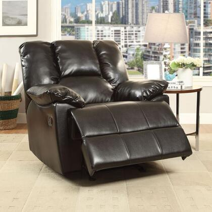 """Acme Furniture Oliver Collection 42"""" Glider Recliner with Pillow Top Arms, Pocket Coil Seating, Metal Reclining Mechanism, External Latch Handle, Memory Foam Seat, Wood Frame and Leather-Aire Upholstery in"""