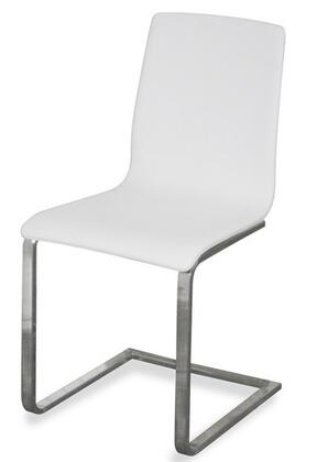 Domitalia JULIES00SNCA7FNW Julie Series Contemporary Polyurethane Blend Metal Frame Dining Room Chair