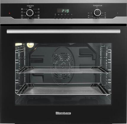 "Blomberg BWOS2402 24"" Single Electric Wall Oven with 2.3 cu ft. Oven Capacity, True European Convection Oven, and 3 Pane Heat Resistant Glass In"