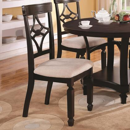 Coaster 103632 Maude Series Traditional Fabric Wood Frame Dining Room Chair