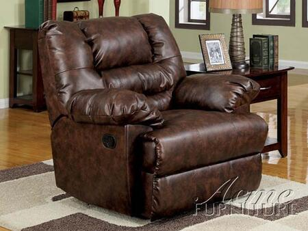 Acme Furniture 15125 Romana Series Contemporary Bonded Leather Wood Frame  Recliners