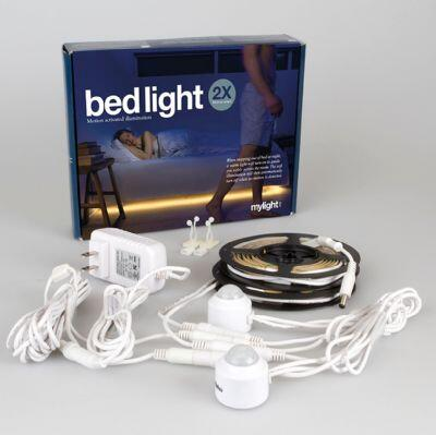 Infinita Mylight.Me Bedlight Ambient LED Light Kit, Two Motion Activated Sensors, Two LED Strips