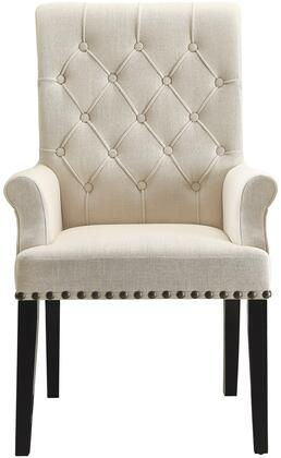 Coaster 190163 Parkins Series Traditional Fabric Wood Frame Dining Room Chair