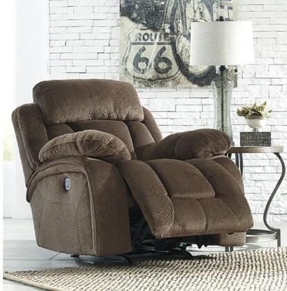 "Milo Italia MI-3941TMP Landen 41"" Power Rocker Recliner with Piped Stitching, Metal Frame and Fabric Upholstery in Color"