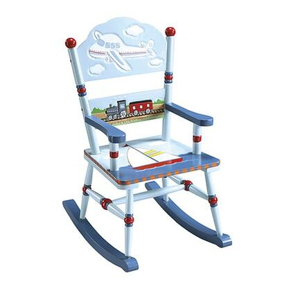 Guidecraft G85301 Transportation Series Armless  Wood Frame Not Upholstered Rocking Chair