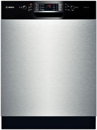 "Bosch SGE63E05UC 24"" Built-In Full Console Dishwasher with 14 Place Settings Place Settingin Stainless Steel w/ Black Control"