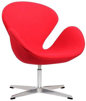 EdgeMod EM221RED Crux Series Armchair Fabric Metal Frame Accent Chair