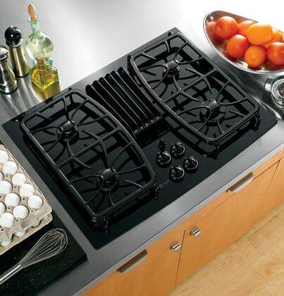 GE Profile PGP989DNBB Profile Series Gas Sealed Burner Style Cooktop