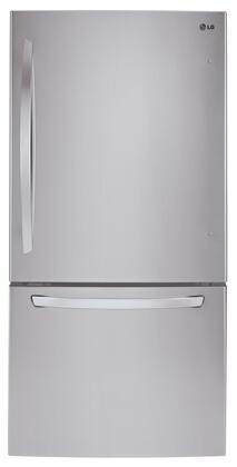 """LG LDCS24223 33"""" Bottom Freezer Refrigerator with 24 cu.ft. Capacity, Multi-Air Flow Cooling, LED Lighting, 2 Humidity Crispers, Tempered Glass Shelves and Energy Star Qualified, in"""
