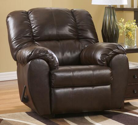 Signature Design by Ashley Dylan DuraBlend 7060X25 Rocker Recliner with Pillow Top Arms, Thick Bustle Back Cushion, Jumbo Stitching Accents and Metal Construction in
