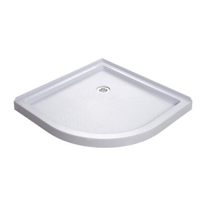 DreamLine DLT30X SlimLine 3X-Inch x 3X-Inch Quarter Round Shower Base with Center Drain in White