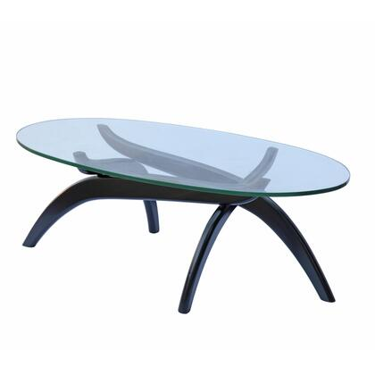 Fine Mod Imports FMI8014BLACK Glass Modern Table